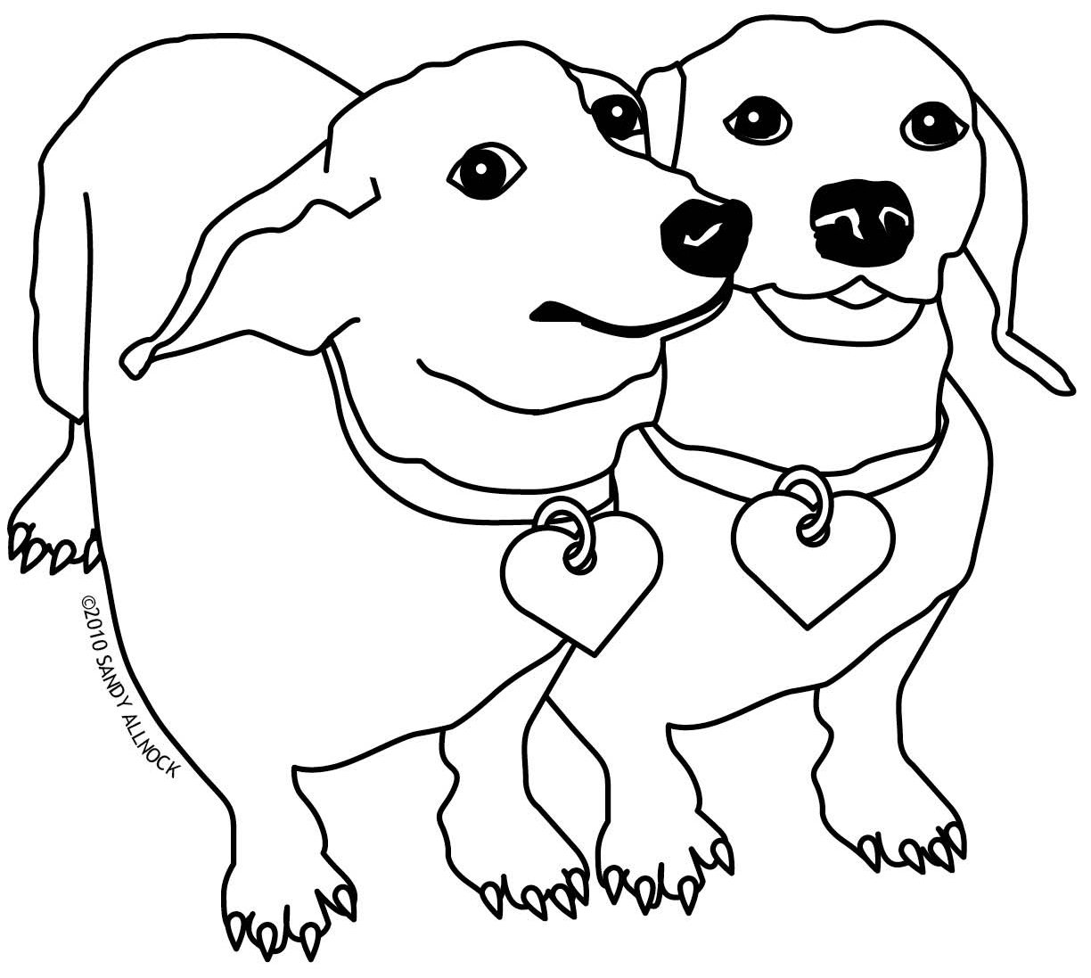 Dachshund coloring #16, Download drawings