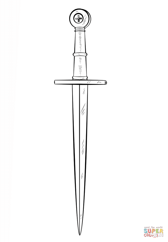 Dagger coloring #17, Download drawings