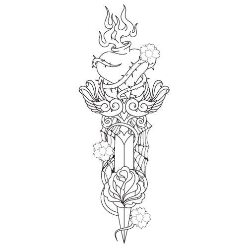 Dagger coloring #1, Download drawings