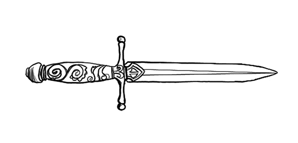 Dagger coloring #16, Download drawings