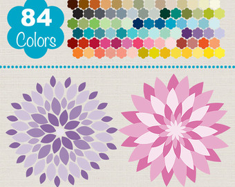 Dahlia clipart #13, Download drawings