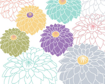 Dahlia clipart #15, Download drawings