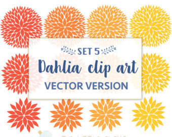 Dahlia clipart #17, Download drawings