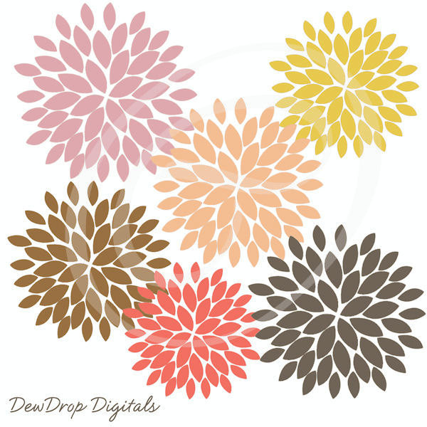 Dahlia clipart #5, Download drawings