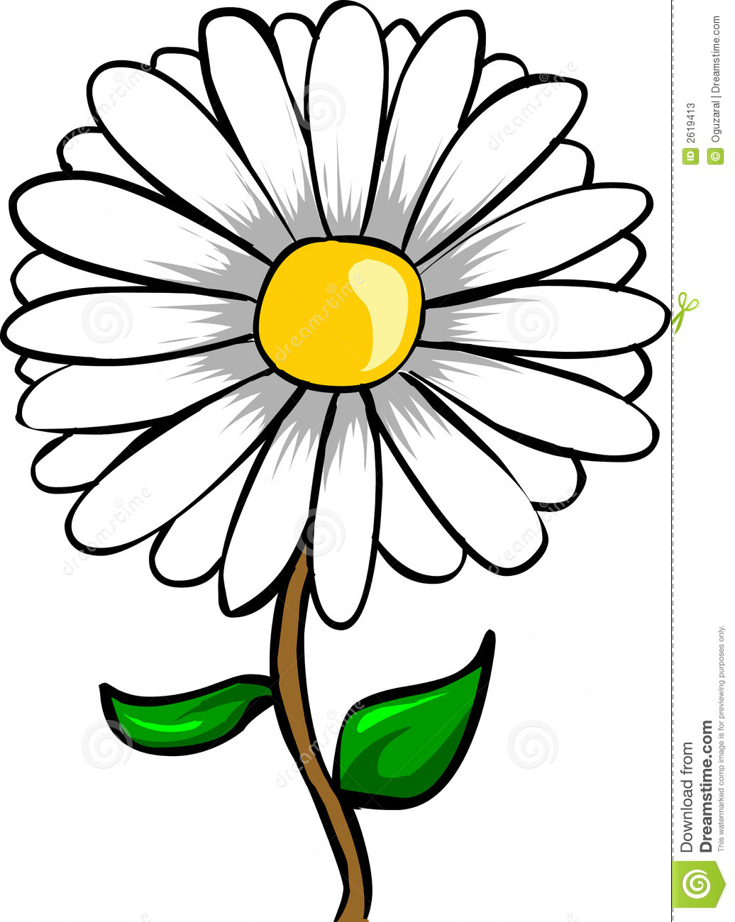 Daisy clipart #14, Download drawings