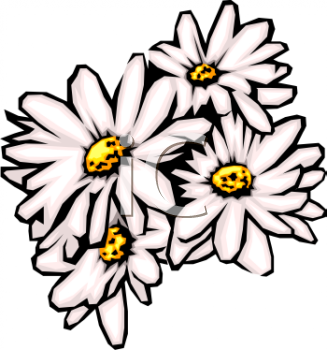 Daisy clipart #1, Download drawings