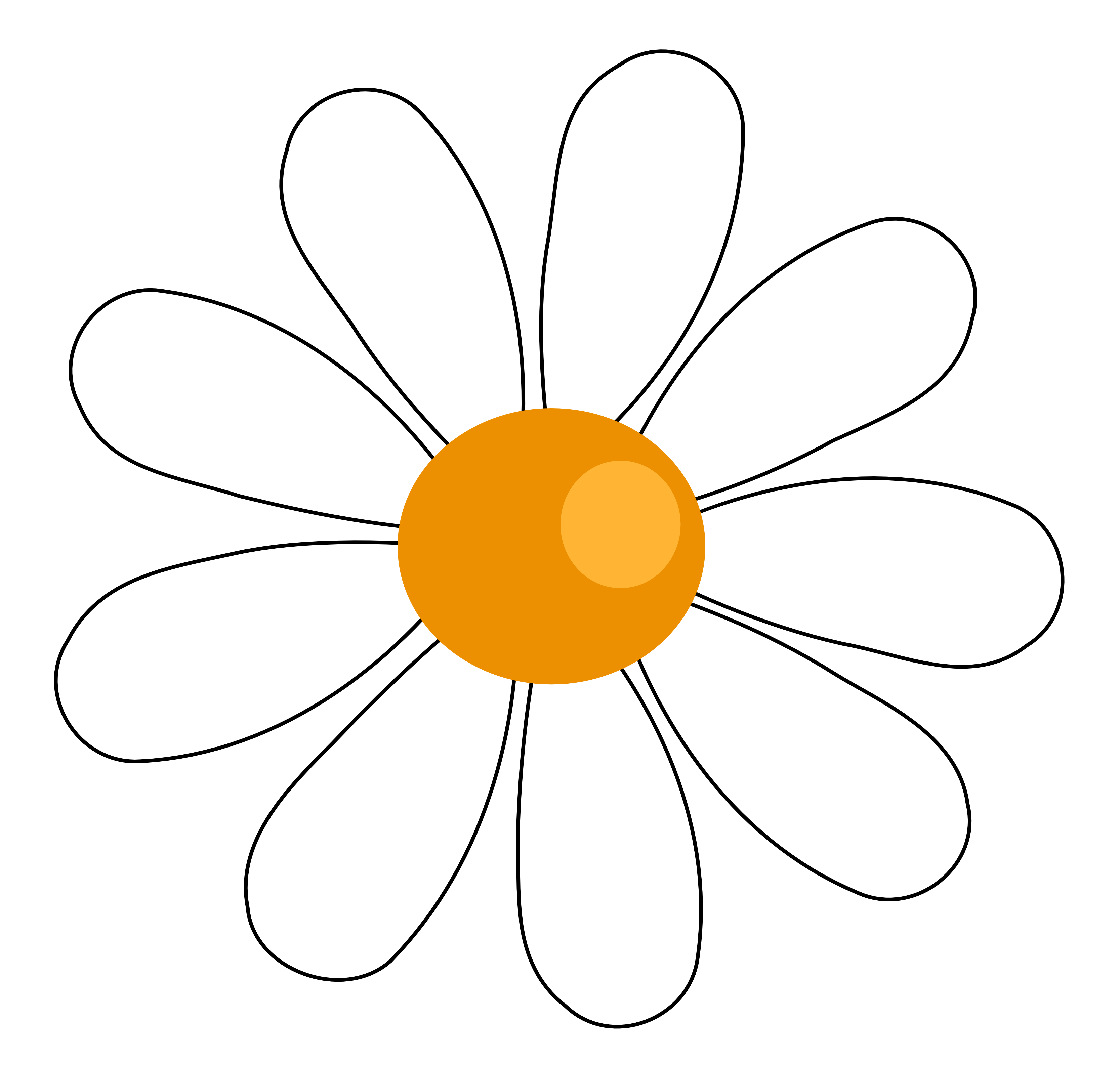 Daisy clipart #2, Download drawings
