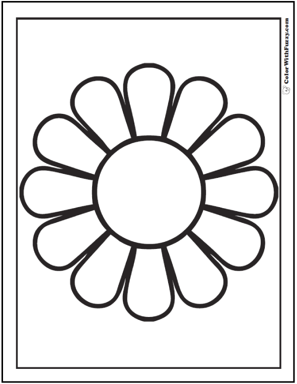 Daisy coloring #16, Download drawings
