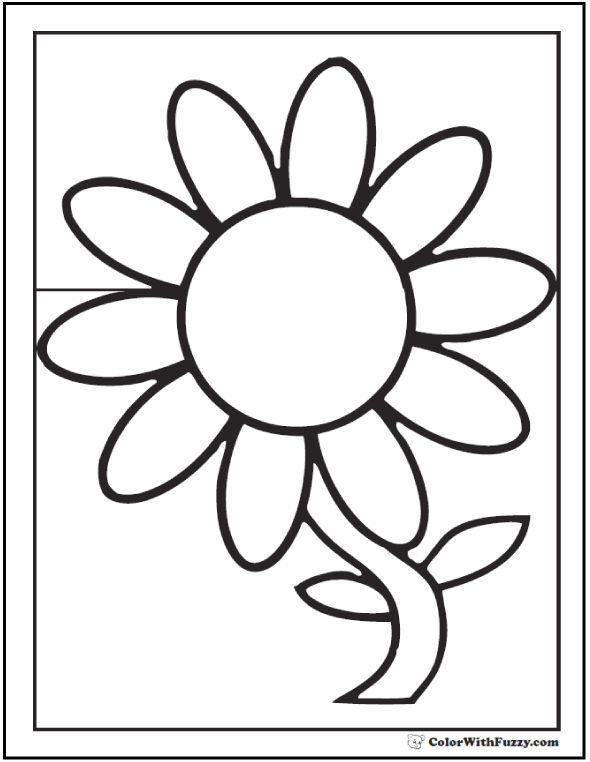 Daisy coloring #11, Download drawings
