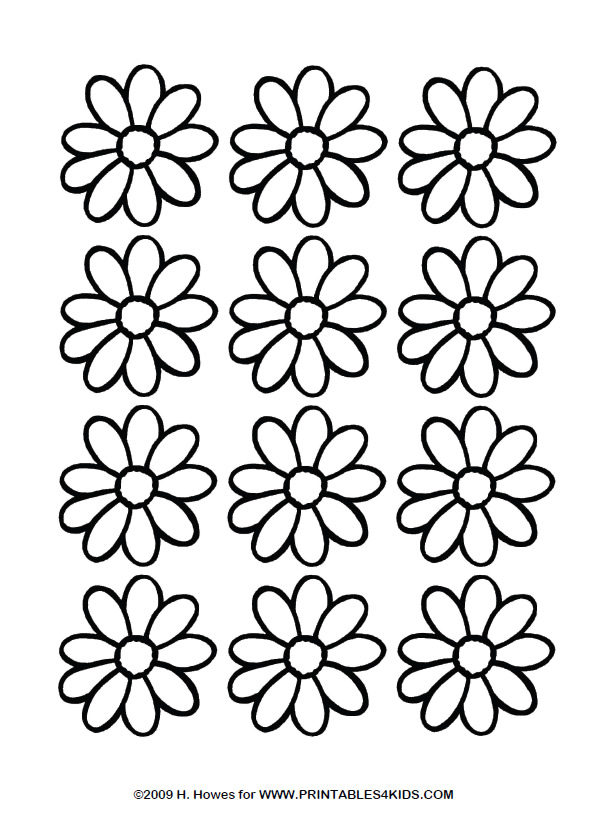 Daisy coloring #1, Download drawings