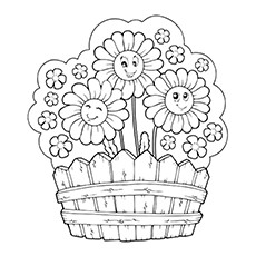 Daisy coloring #6, Download drawings