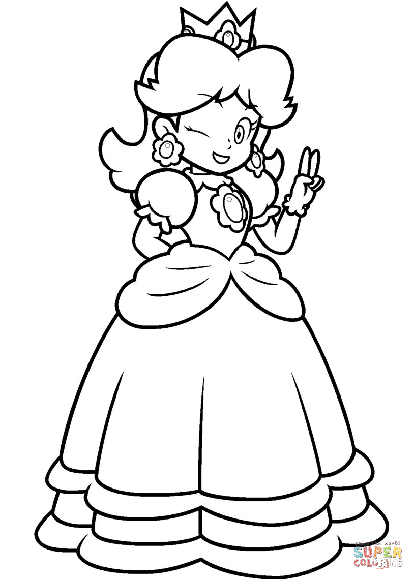 Daisy coloring #4, Download drawings