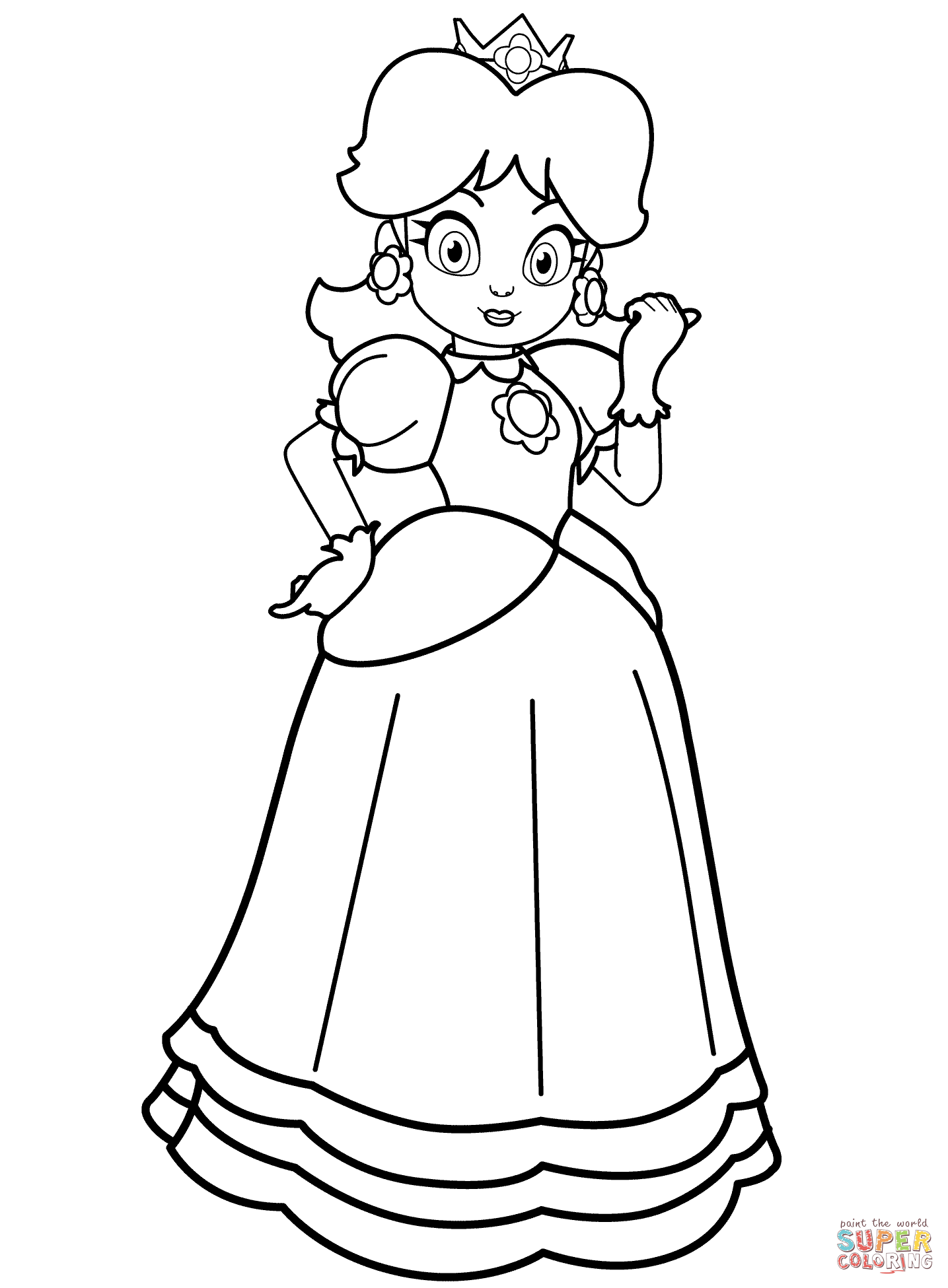 Daisy coloring #2, Download drawings