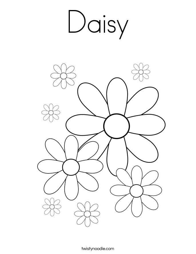 Daisy coloring #17, Download drawings