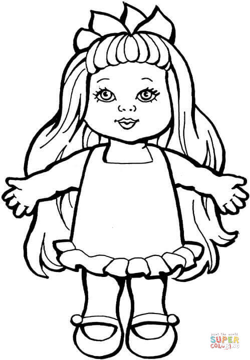 Doll coloring #20, Download drawings