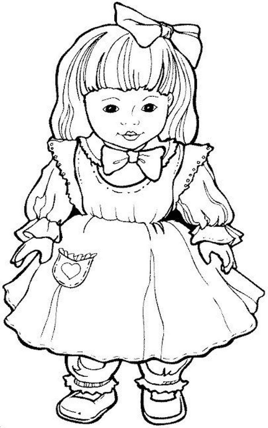 Doll coloring #4, Download drawings