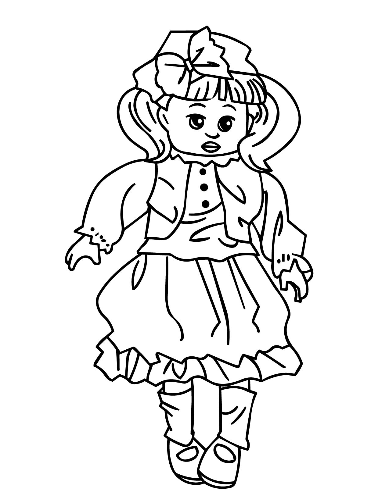 Doll coloring #8, Download drawings