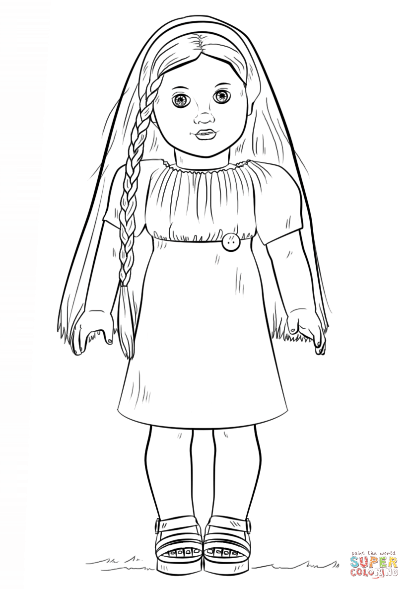 Doll coloring #7, Download drawings