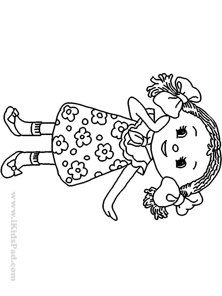 Doll coloring #3, Download drawings
