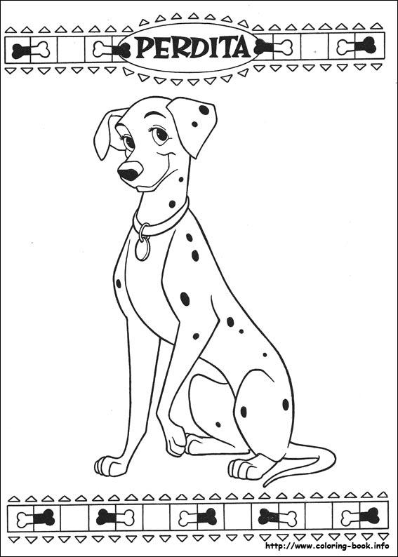 Dalmatian coloring #3, Download drawings