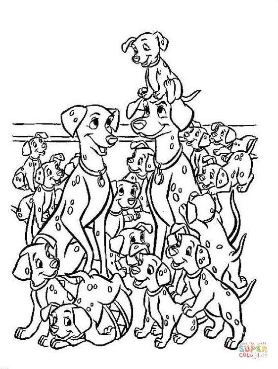 Dalmatian coloring #10, Download drawings