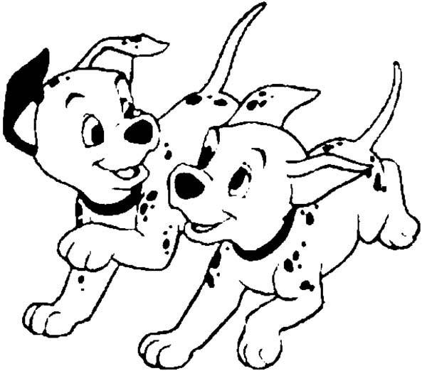 Dalmatian coloring #18, Download drawings