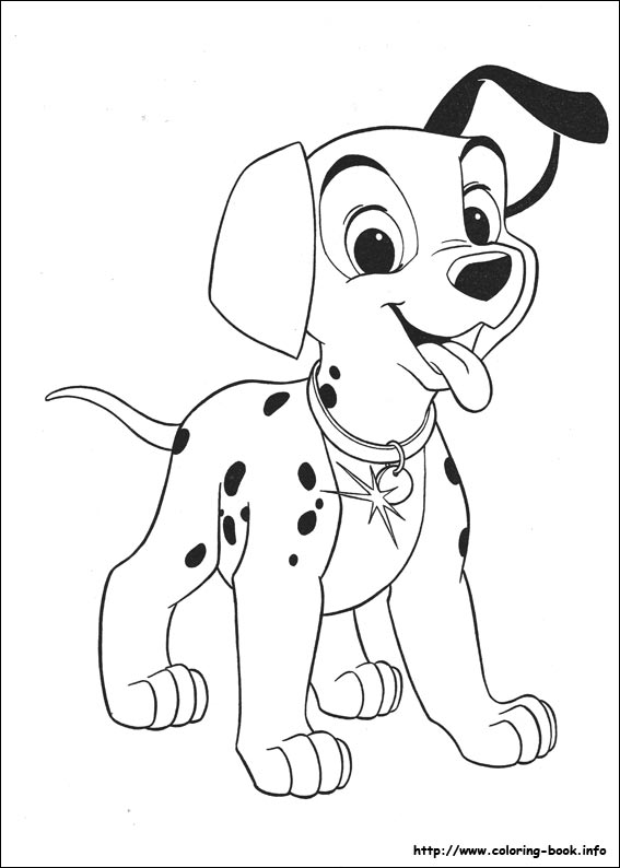 Dalmation coloring #6, Download drawings