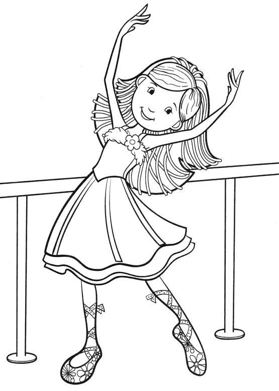 Dancer coloring #9, Download drawings