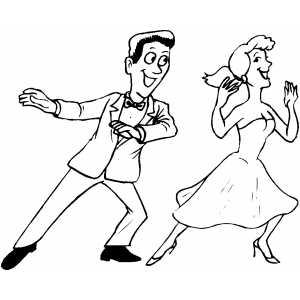 Dancer coloring #6, Download drawings