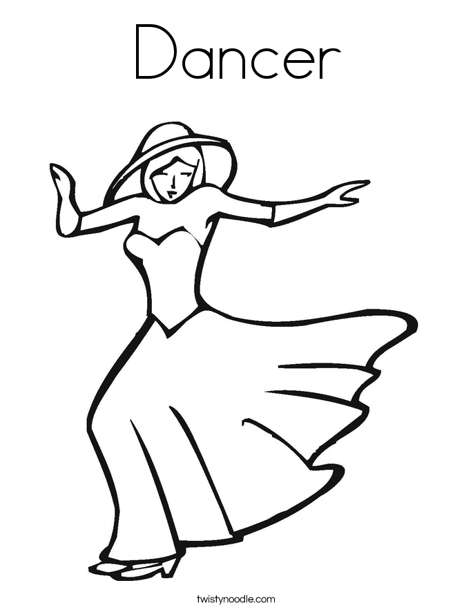 Dancer coloring #13, Download drawings