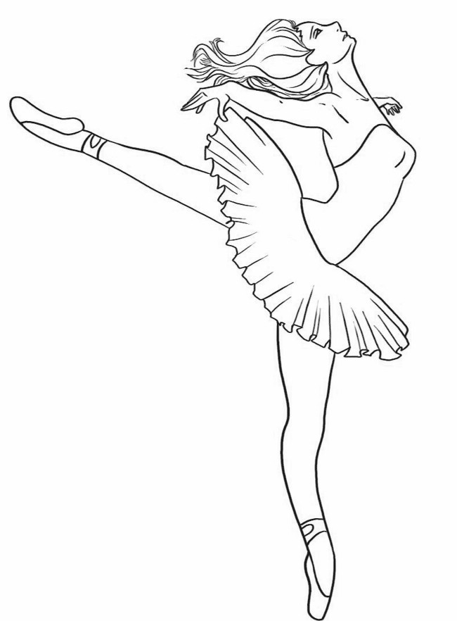 Dancer coloring #7, Download drawings