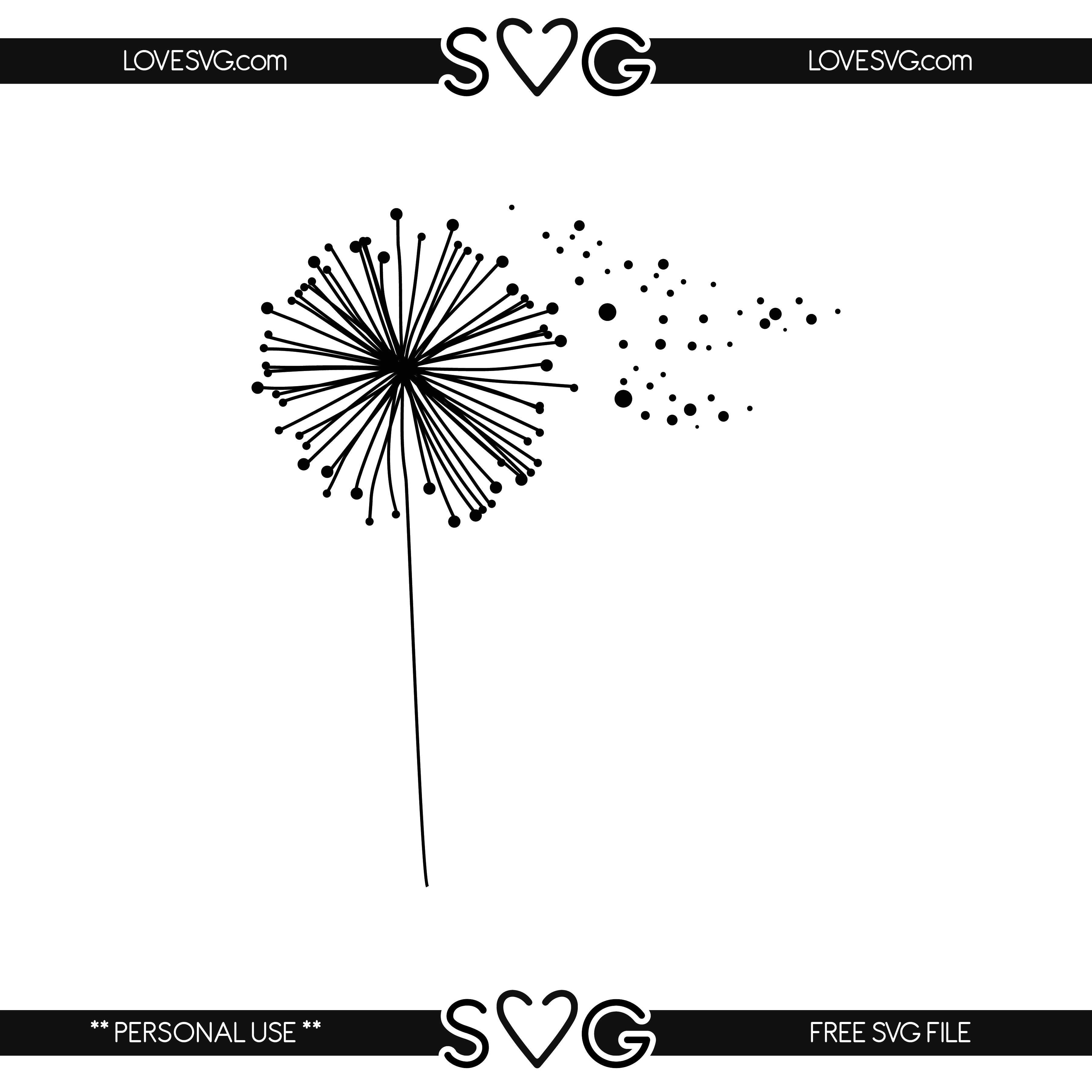 Dandelion svg #3, Download drawings