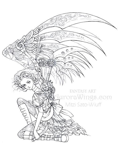 Dark Angel coloring #17, Download drawings