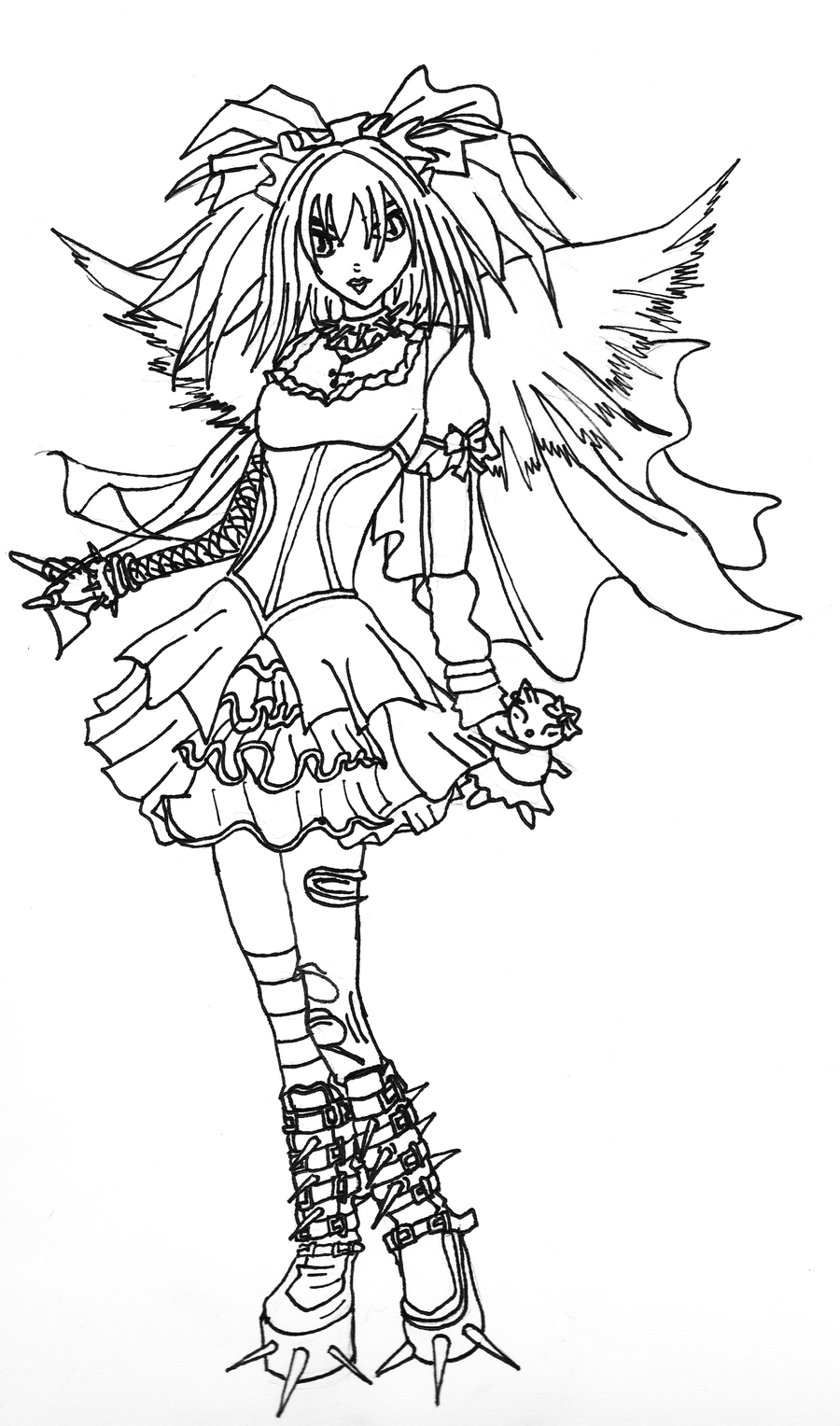 Dark angel coloring download dark angel coloring for Coloring page angel
