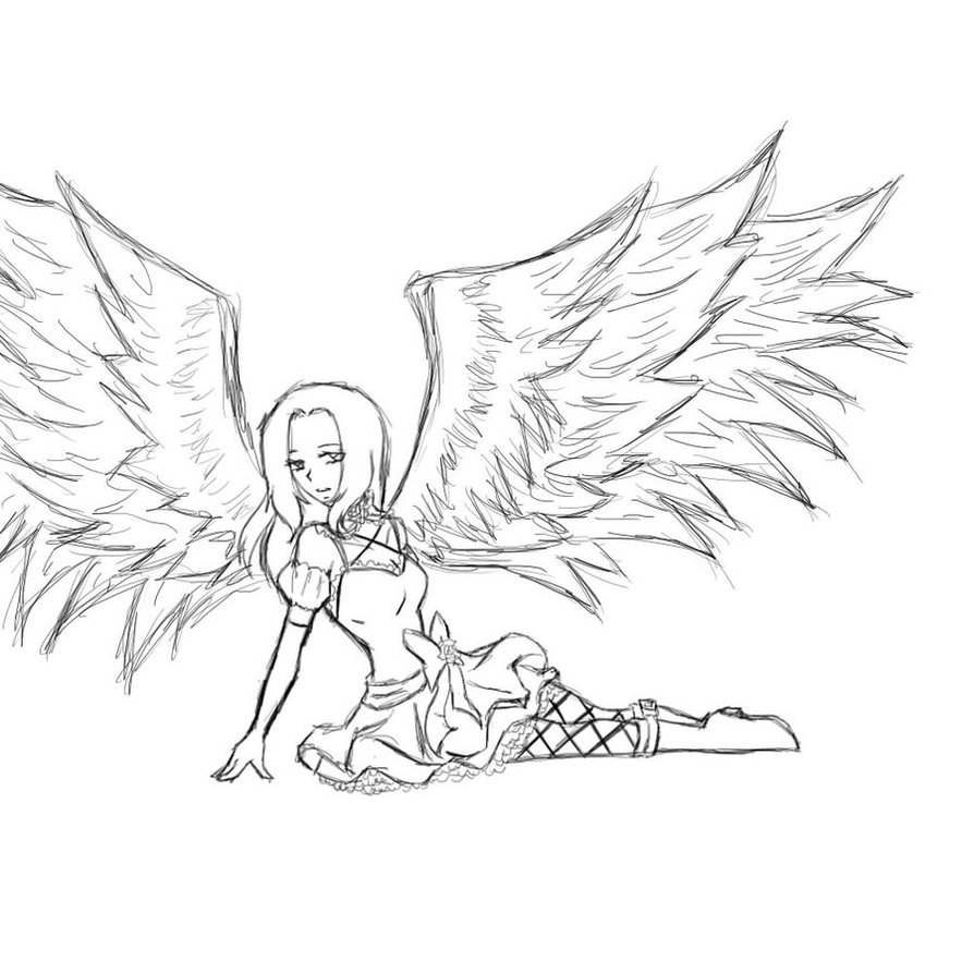 Dark Angel coloring #18, Download drawings