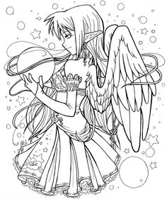 Dark Elf coloring #10, Download drawings