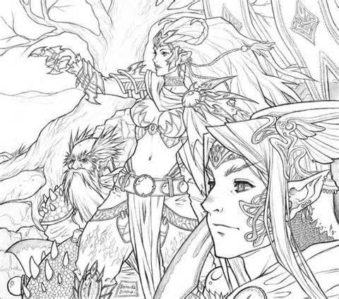 Dark Elf coloring #4, Download drawings