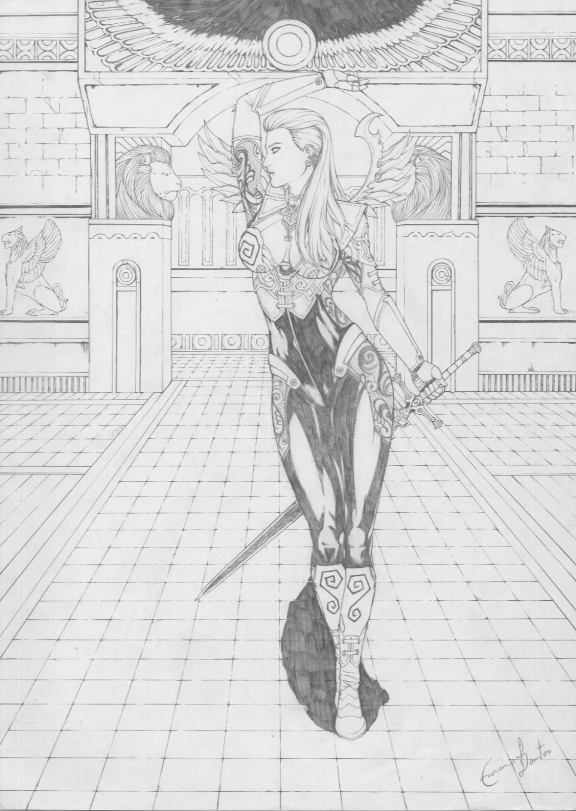 Dark Elf coloring #1, Download drawings