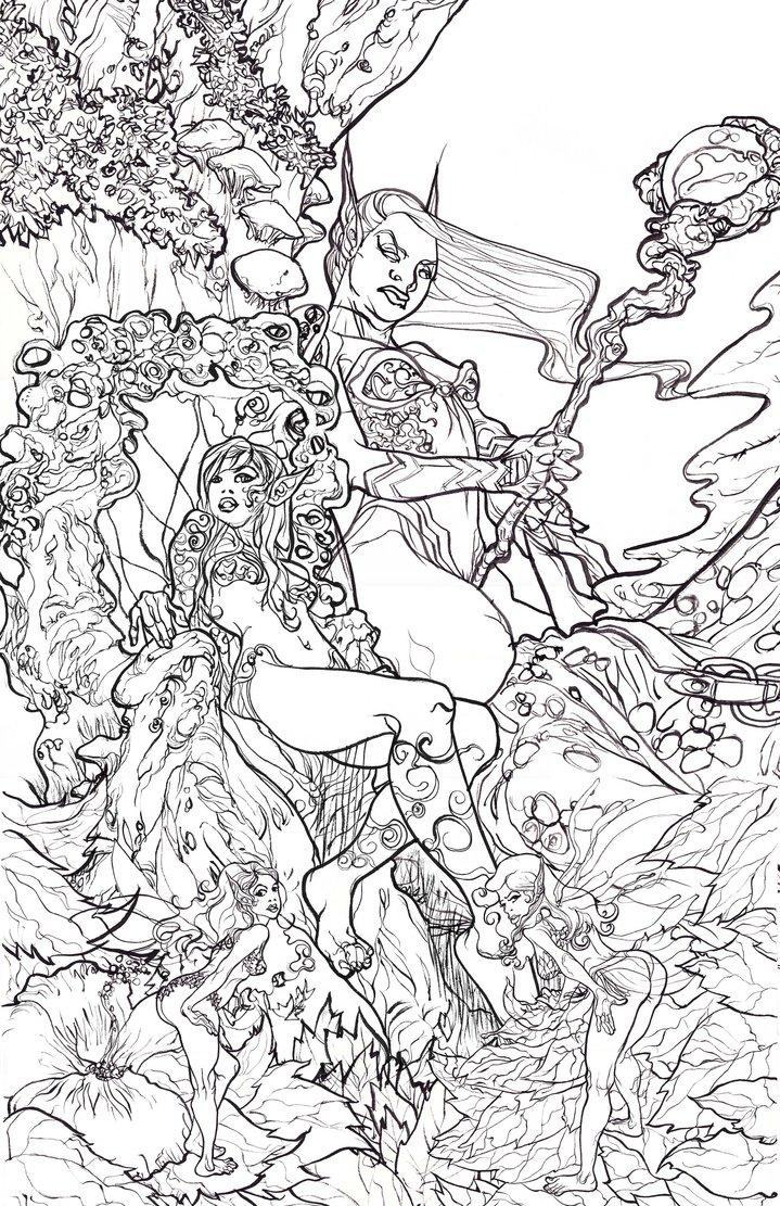Dark Elf coloring #12, Download drawings