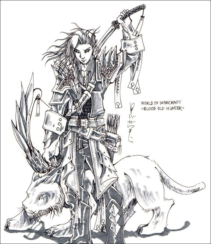 Dark Elf coloring #17, Download drawings