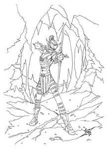 Dark Elf coloring #19, Download drawings