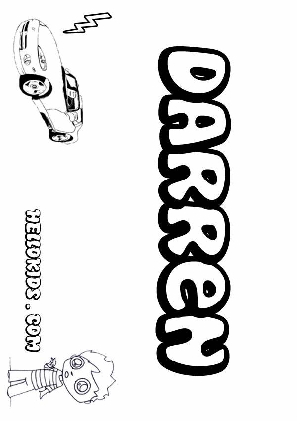 Darren coloring #17, Download drawings
