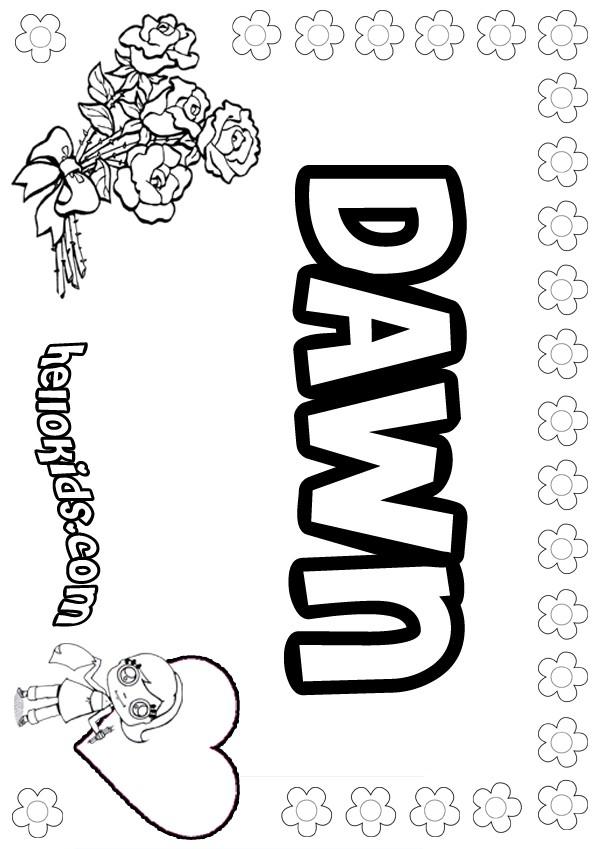 Dawn coloring #5, Download drawings