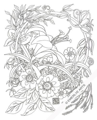Daylily coloring #19, Download drawings