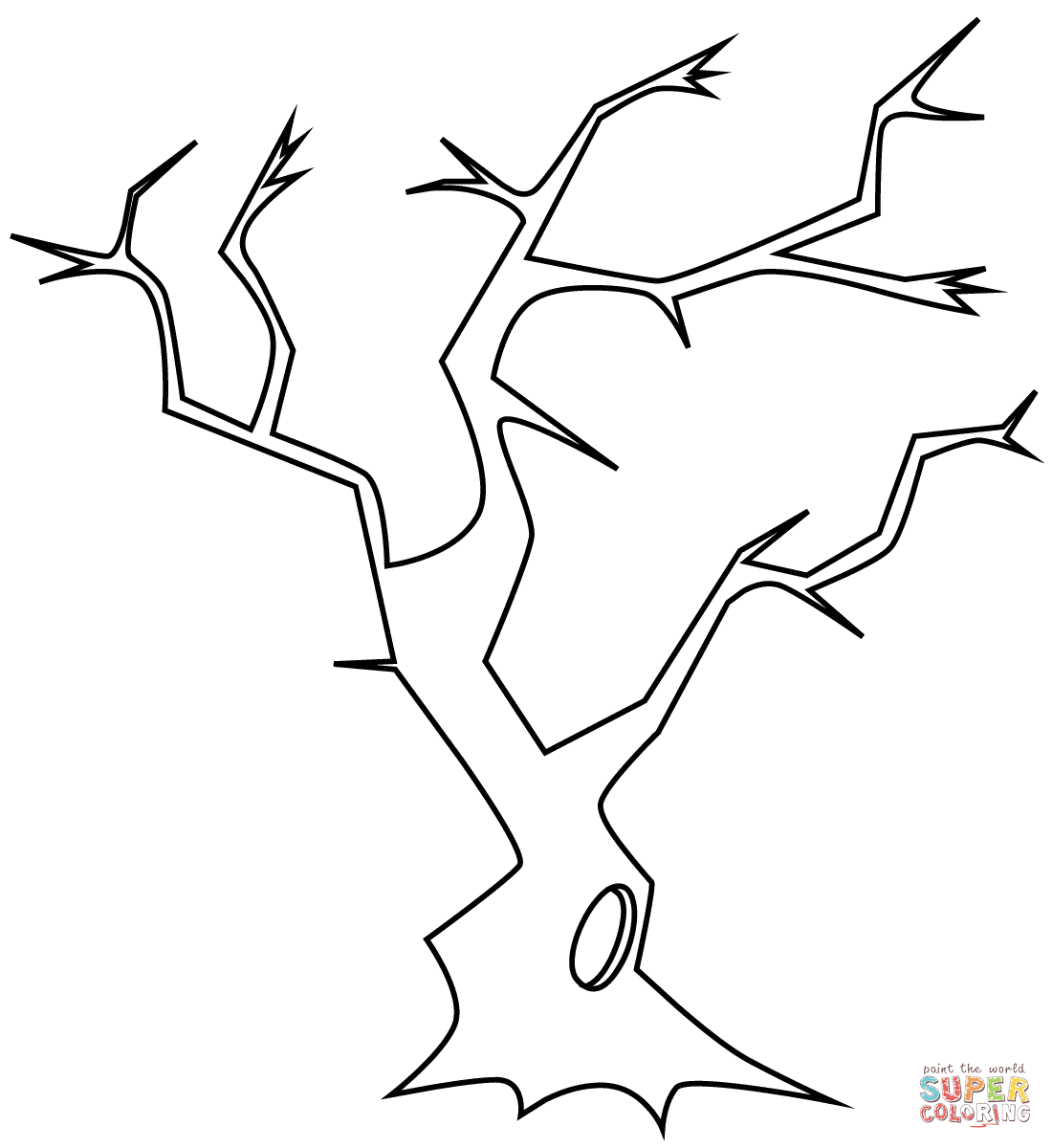 Dead Tree coloring #5, Download drawings