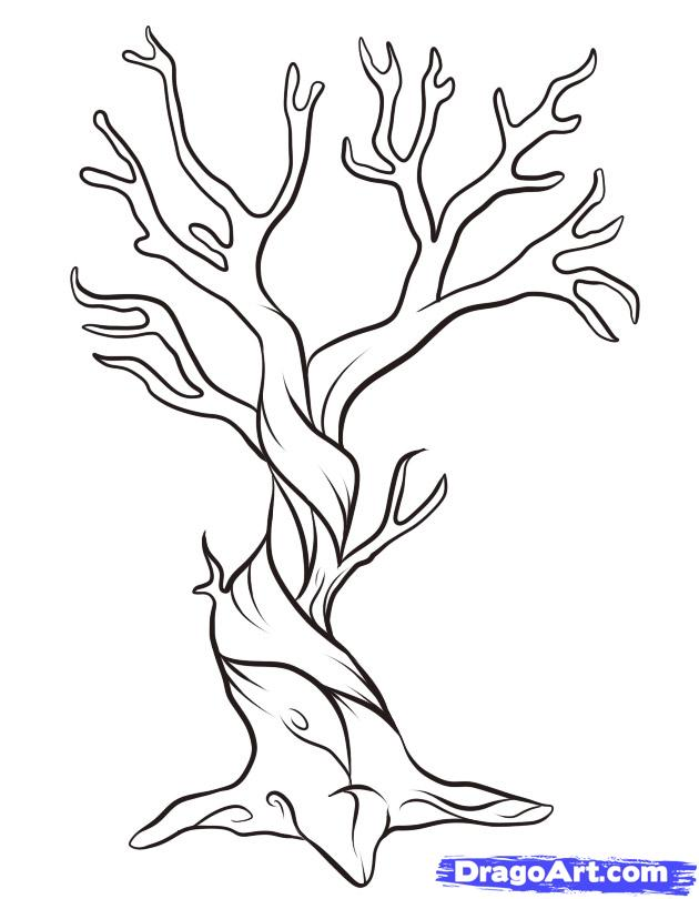 Dead Tree coloring #18, Download drawings