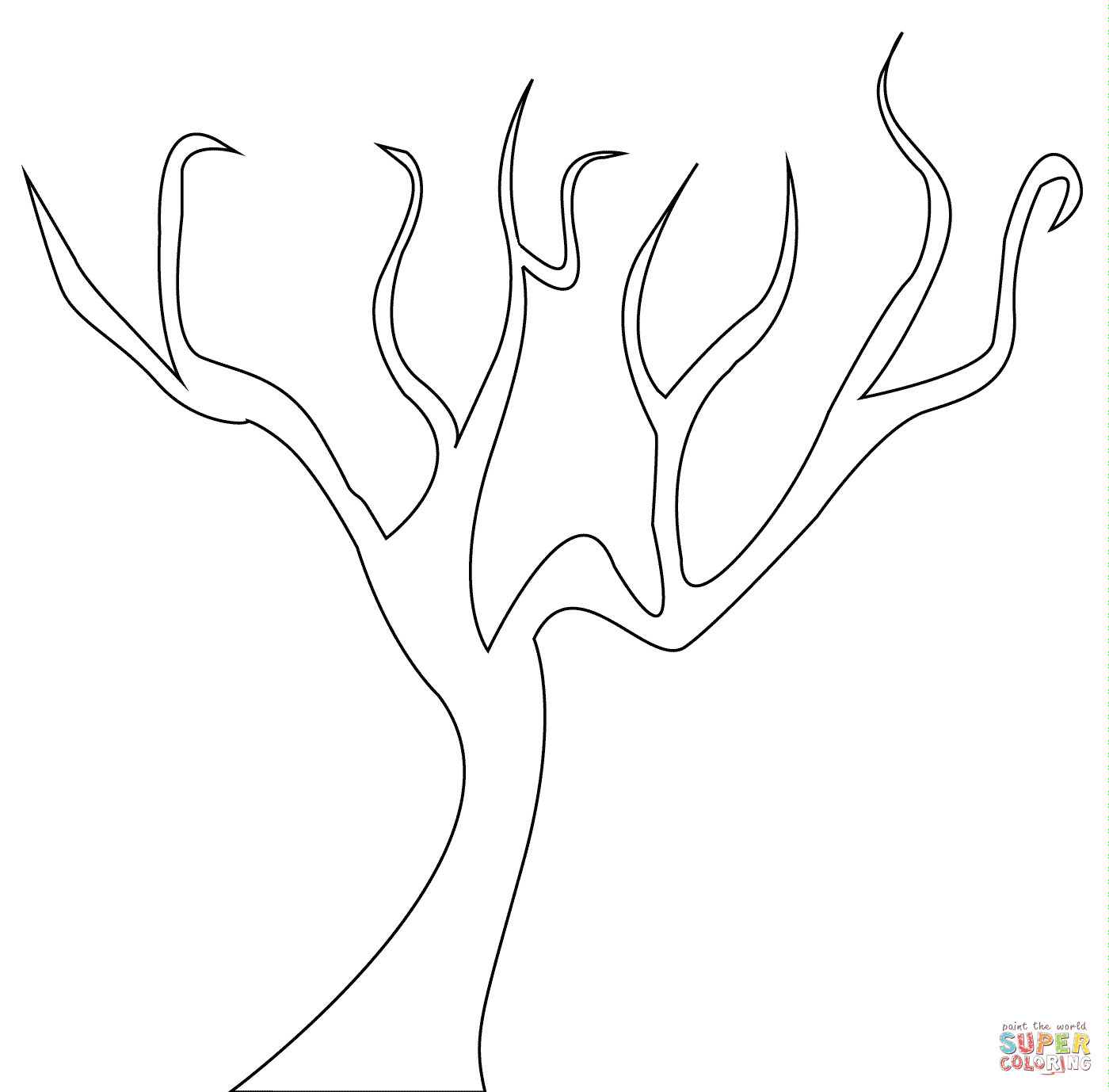 Dead Tree coloring #8, Download drawings