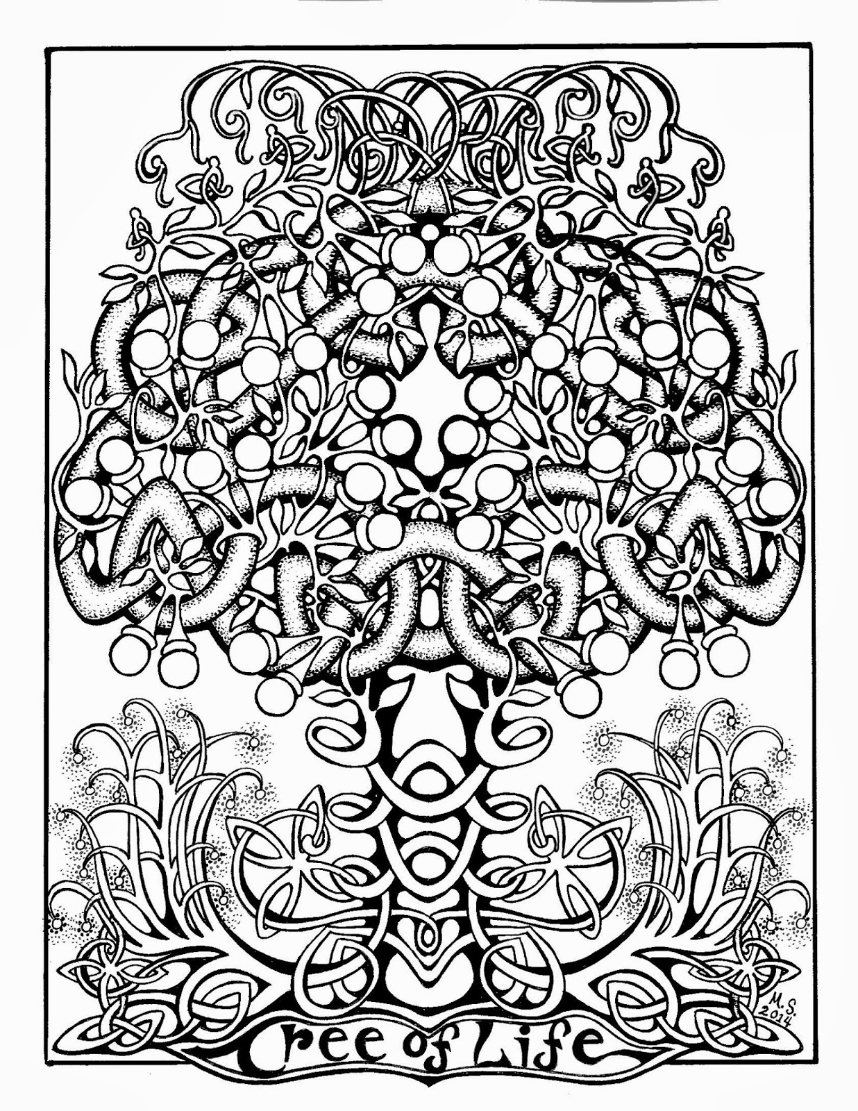 abstract trees coloring pages - photo#16