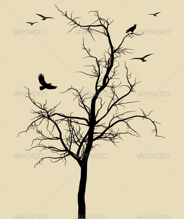 Dead Tree Dark Abstract svg #4, Download drawings