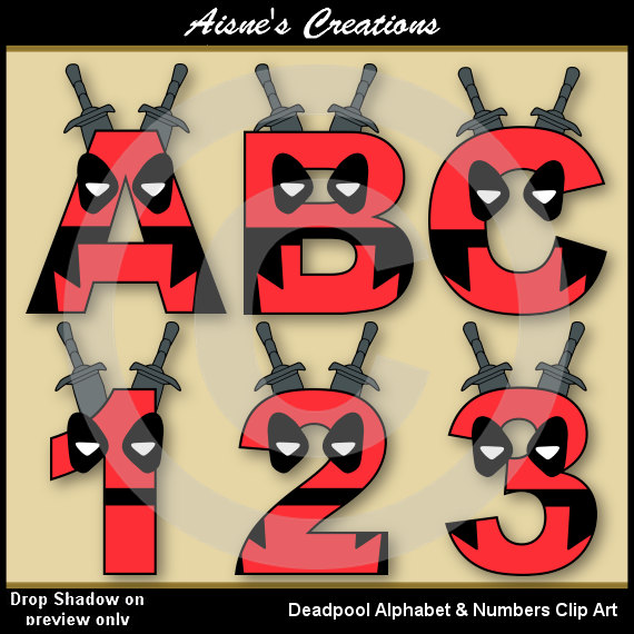 Deadpool clipart #6, Download drawings